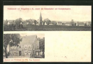 AK Rüggeberg, Gasthaus und Bäckerei von Ww. Aug. Rutenbeck, Ortsansicht