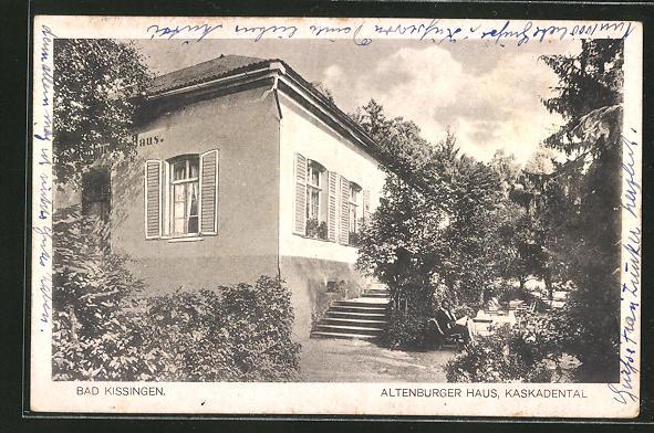 AK Bad Kissingen, Hotel Altenburger Haus, Kaskadental