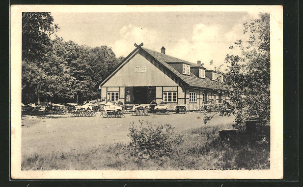 AK Aumühle, Gasthaus Waldschänke am Riesenbett, Inh. R. Berodt Nr ...