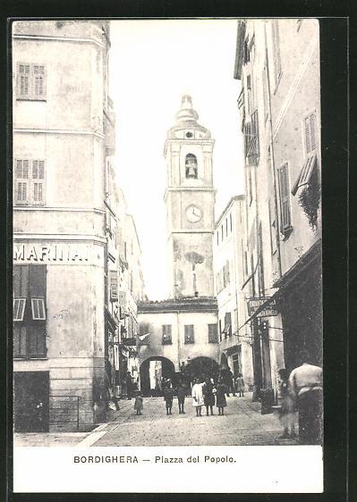 AK Bordighera, Piazza del Popolo