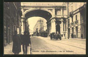 AK Genova, Ponte Monumentale e via XX Settembre