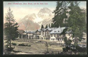 AK Schluderbach, Hotel Schluderbach und die Hohe Gaisl