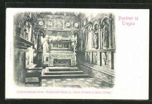 AK Trogira, Zborno-opatska crkva: Unutarnjost kapele sv. Jvana