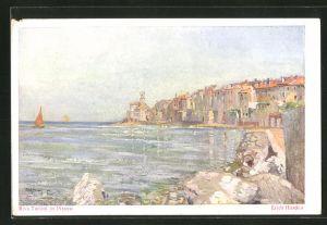 Künstler-AK Pirano, Riva Tartini