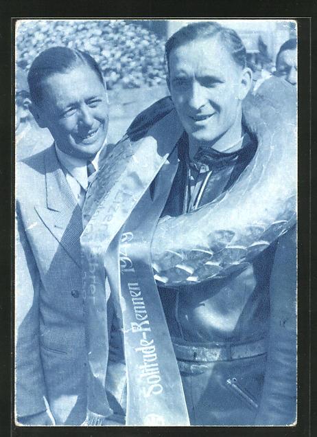 AK Wilhelm Herz auf NSU, Motorradrennfahrer