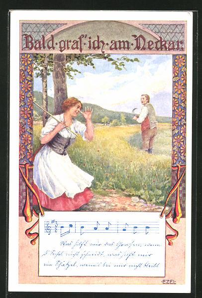 Künstler-AK Ezel: Lied
