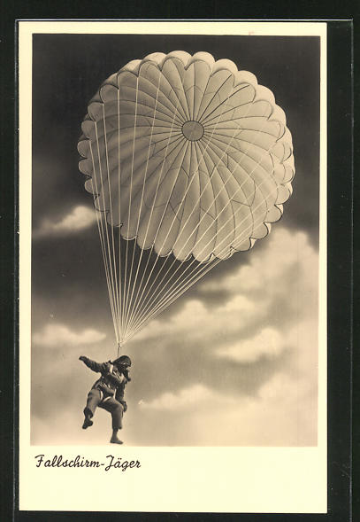 AK Fallschirm-Jäger in der Luft