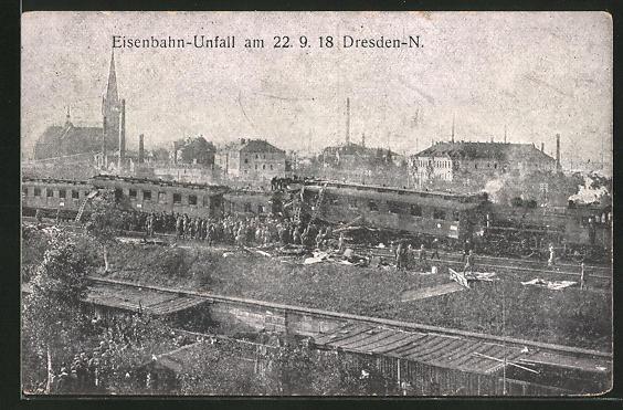 AK Dresden-Neustadt, Eisenbahnkatastrophe am 22.9.18, Rettung der Insassen