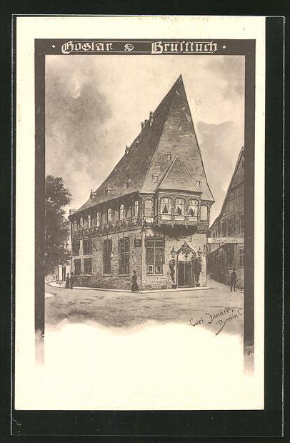 Künstler-AK Carl Jander: Goslar, Partie am Brusttuch