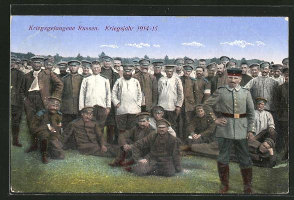 AK Kriegsgefangene Russen im Kriegsjahr 1914-15