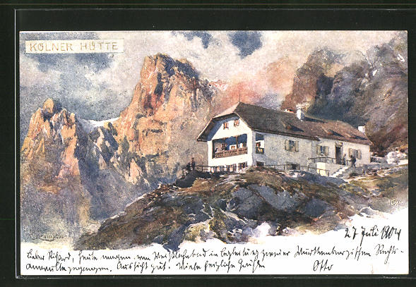 Künstler-AK Edward Theodore Compton: Kölner Hütte