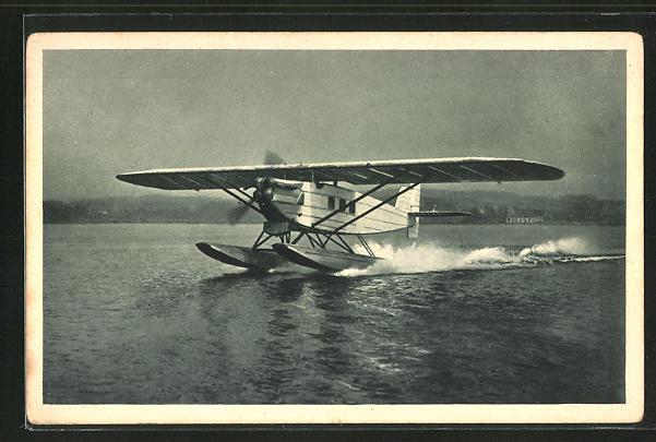 AK Bodensee, Wasserflugzeug Dornier Merkur beim Start