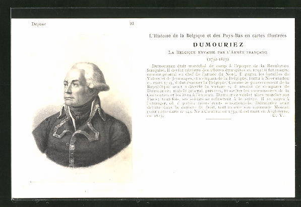 AK Maréchal Dumouriez, französische Revolution