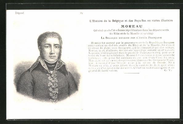 AK General en chef Moreau, französische Revolution
