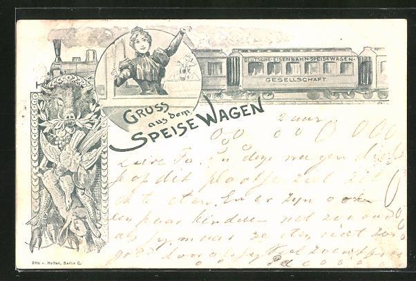AK Deutsche Eisenbahn-Speisewagen-Gesellschaft