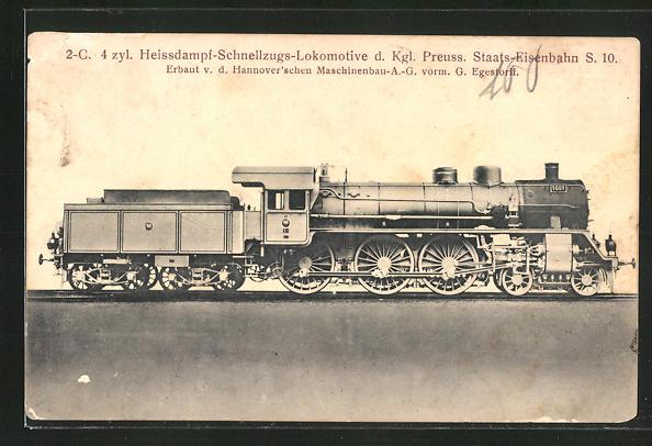 AK Heissdampf-Schnellzugs-Lokomotive der Kgl. Preuss. Staats-Eisenbahn