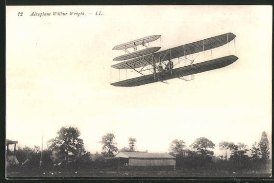 AK L'Aéroplane Wilbur Wright, Frühes Flugzeug