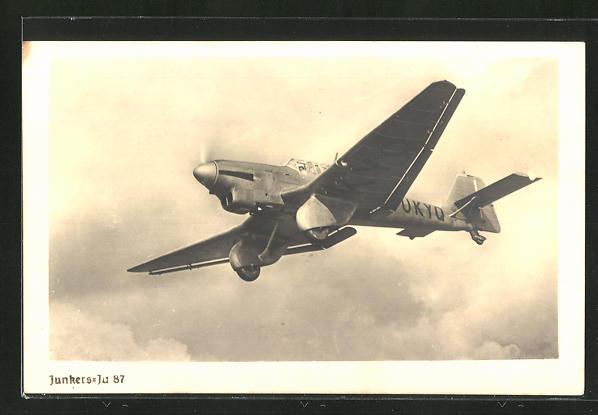 AK Sturzkampfflugzeug Junkers Ju 87 im Fluge