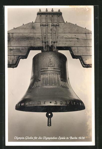 AK Berlin, Olympia-Glocke für die Olympischen Spiele 1936