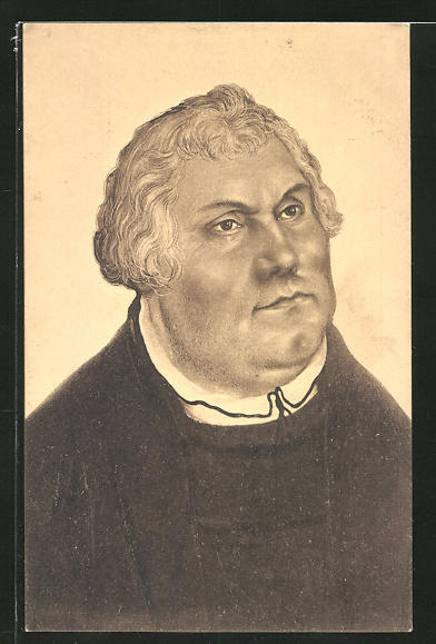 AK Porträt Martin Luthers