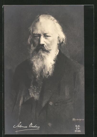 AK Portrait Komponist Johannes Brahms mit Bart