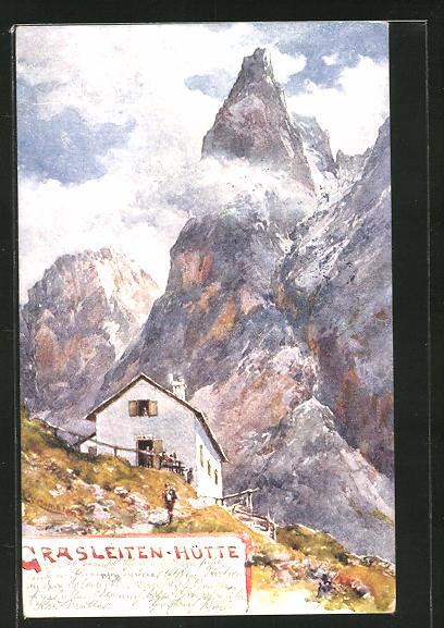 Künstler-AK Edward Theodore Compton: Grasleitenhütte