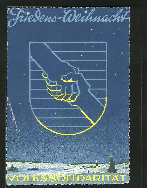 AK DDR-Propaganda, Friedensweihnacht Volksolidarität