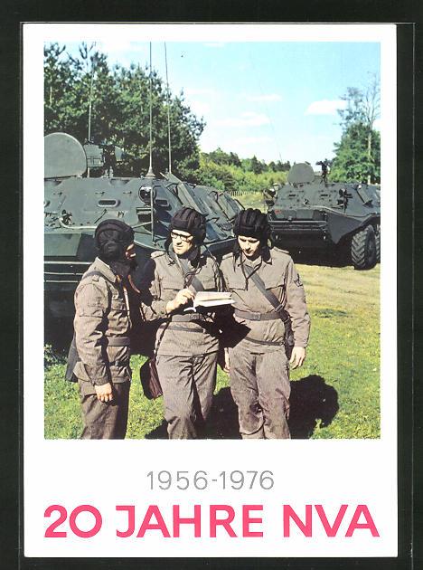 AK 20 Jahre NVA 1956-1976, Soldaten mit Panzer
