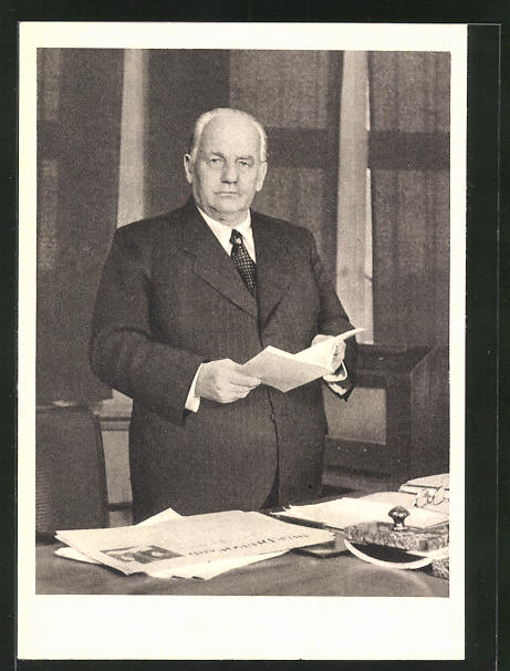 AK III. Weltfestspiele der Jugend und Studenten für den Frieden 1951, Wilhelm Pieck