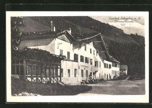 AK Raitis, Gasthof Schupfen a. d. Brennerstrasse, Bes. Marie Meixner