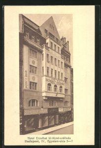 AK Budapest, Hotel Erzsébet királyné-szálloda, Egyetem-utca 5-7