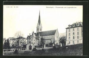 AK Rorschach, Promenade und Jugendkirche