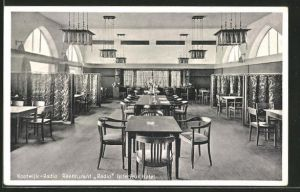 AK Kootwijk-Radio, Restaurant Radio Interieur Hotel, Speisesaal