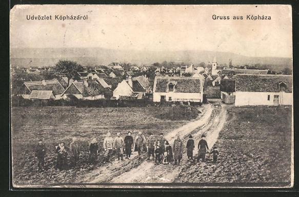 AK Kopházá, Totale mit Soldaten und Zivilisten