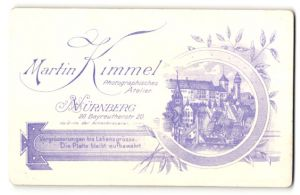 Fotografie Martin Kimmel, Nürnberg, rückseitige Ansicht Nürnberg, Atelier Bayreutherstr. 20, vorderseitig Portrait