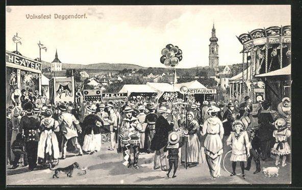 AK Deggendorf, Buntes Treiben auf dem Volksfest