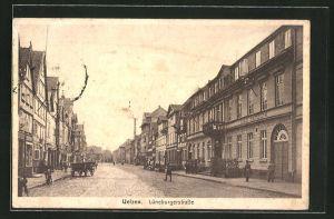 AK Uelzen, Lüneburgerstrasse mit Hotel Stadt Hamburg