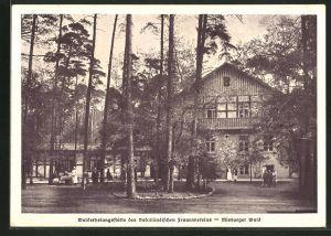 AK Misburg, Walderholungsstätte des vaterländischen Frauenvereins