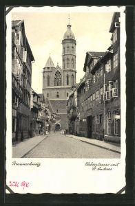 AK Braunschweig, Weberstrasse mit St. Andreaskirche
