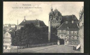 AK Burtscheid, Jonastor mit St. Johann Baptist Pfarrkirche