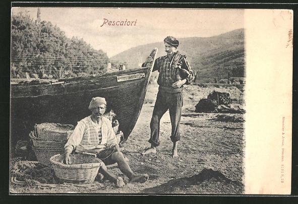 AK Pescatori, Fischer an ihrem Boot