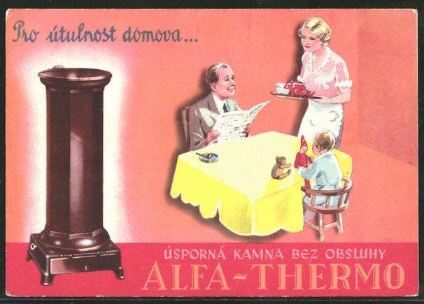 AK Reklame für Ofen