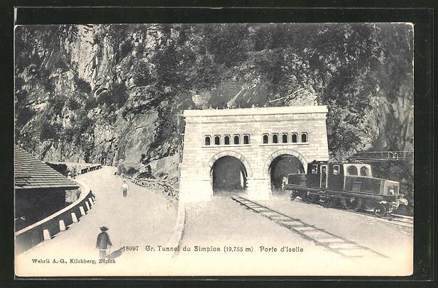 AK Porte d'Iselle, Gr. Tunnel du Simplon