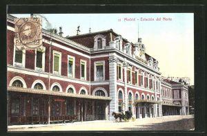 AK Madrid, Estación del Norte, Nord-Bahnhof