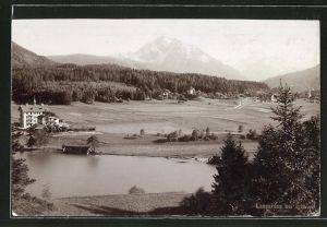 Foto-AK Fritz Gratl: Lansersee bei Igls, Panorama