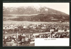 Foto-AK Fritz Gratl: Innsbruck, Panorama