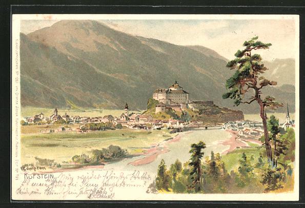 Künstler-AK Edward Harrison Compton: Kufstein, Panoramablick auf die Stadt