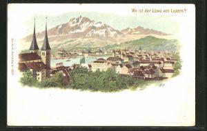 Lithographie Luzern, Panorama und Suchbild:
