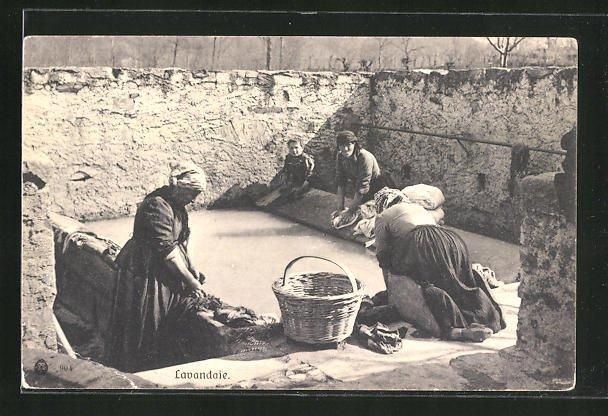 AK Lavandaie, Waschfrauen bei der Arbeit