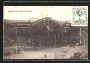 AK Madrid, Estacion del Meliodia, Bahnhof